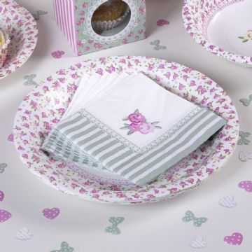 Frills & Spills Cocktail Napkins - pack of 16